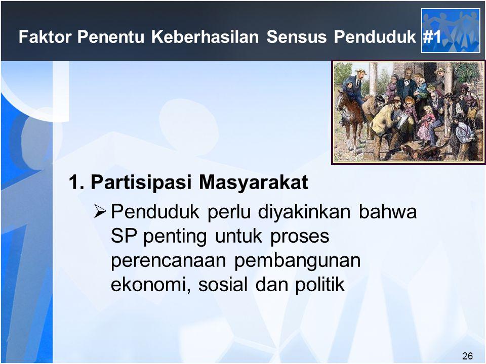 Faktor Penentu Keberhasilan Sensus Penduduk #1
