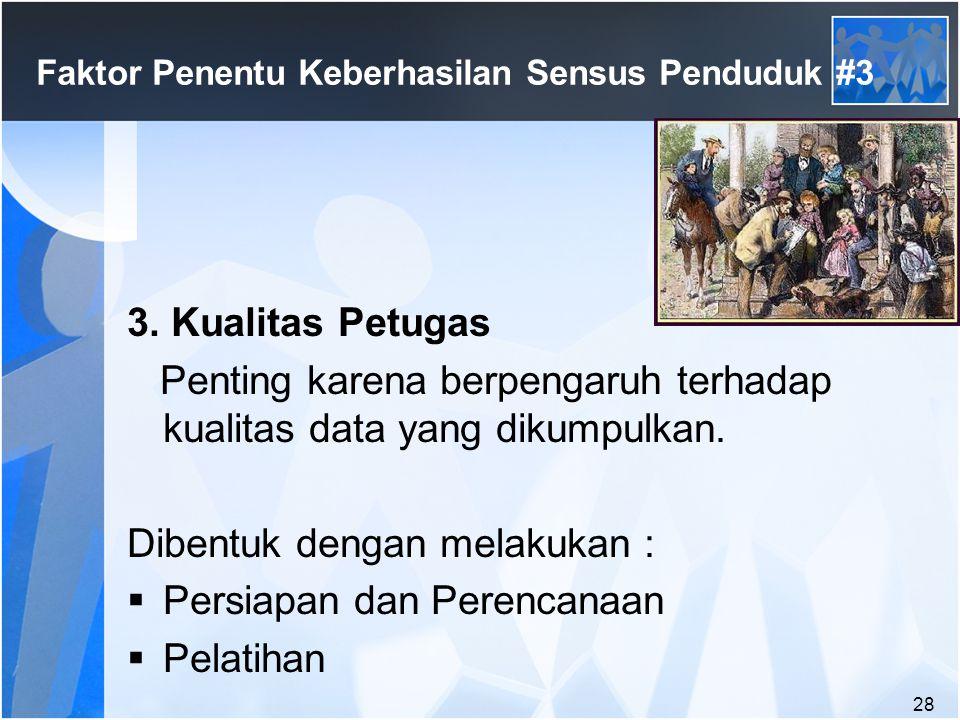 Faktor Penentu Keberhasilan Sensus Penduduk #3