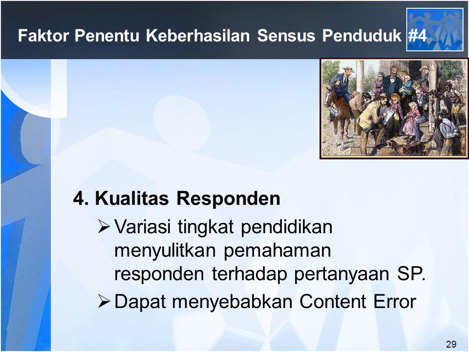 Faktor Penentu Keberhasilan Sensus Penduduk #4