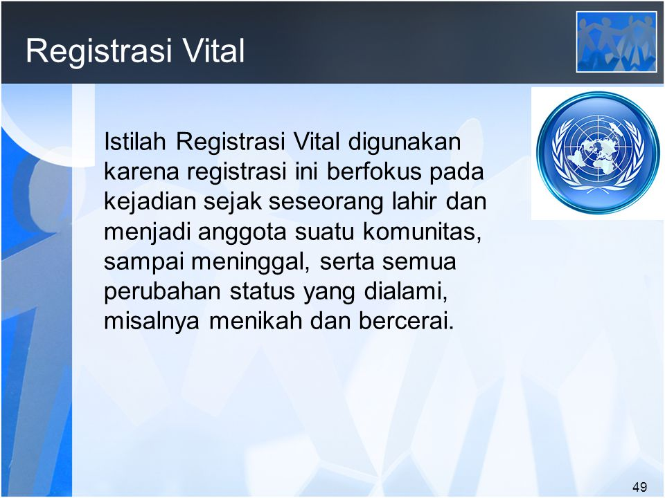 Registrasi Vital
