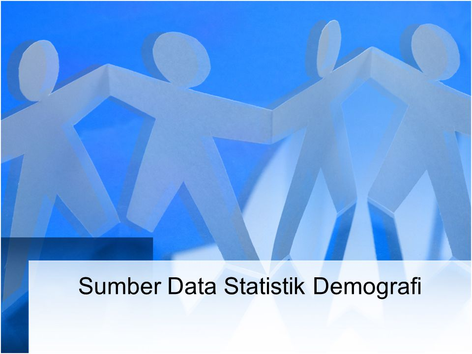 Sumber Data Statistik Demografi