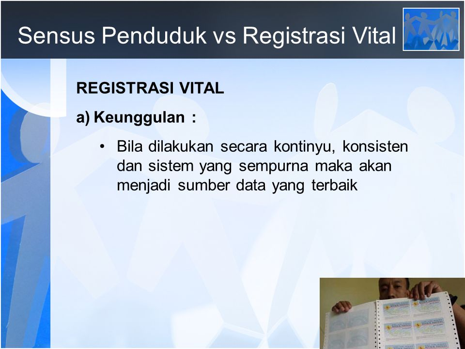 Sensus Penduduk vs Registrasi Vital