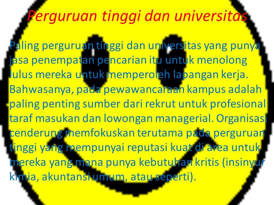 Perguruan tinggi dan universitas