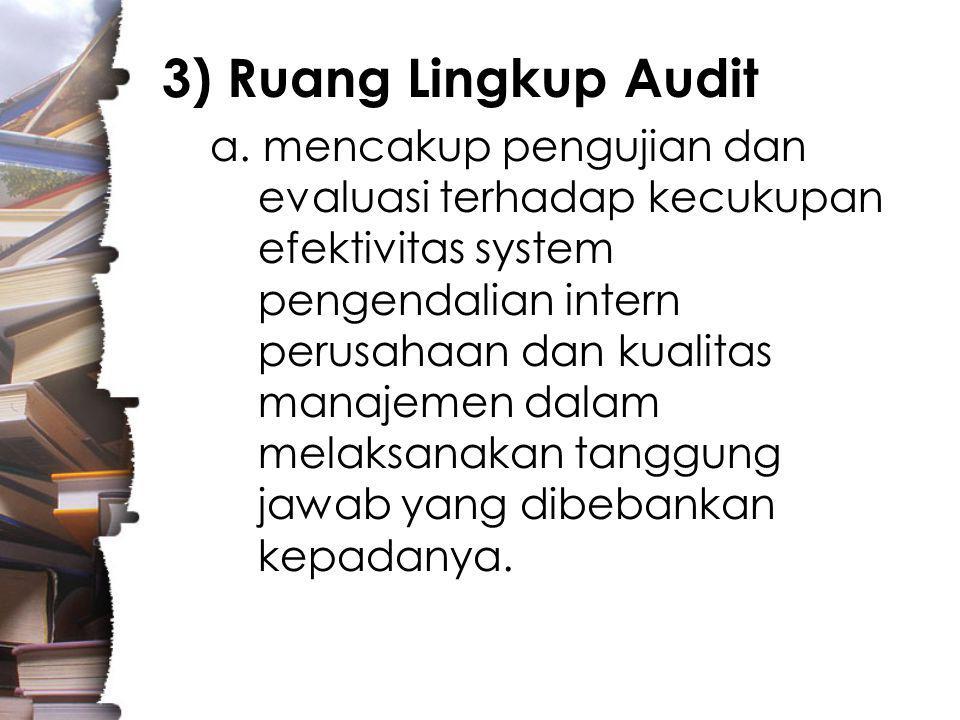 3) Ruang Lingkup Audit
