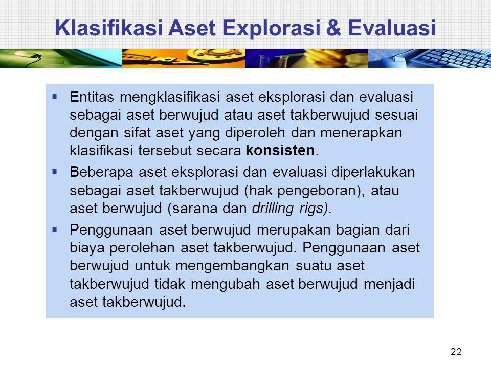 Klasifikasi Aset Explorasi & Evaluasi
