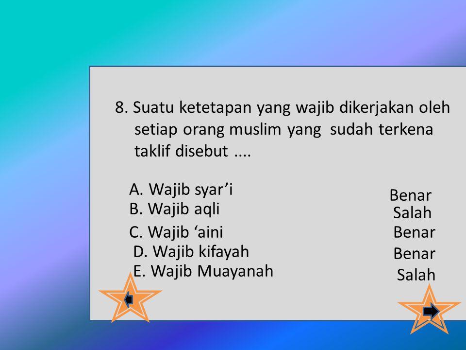 setiap orang muslim yang sudah terkena taklif disebut ....