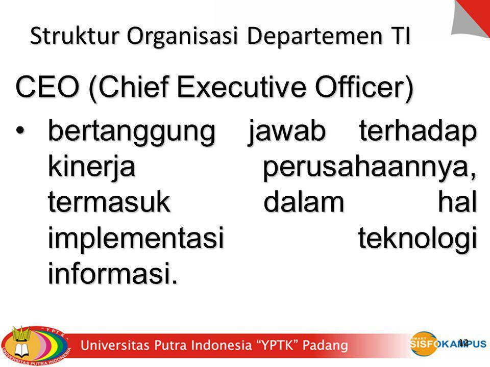 Struktur Organisasi Departemen TI