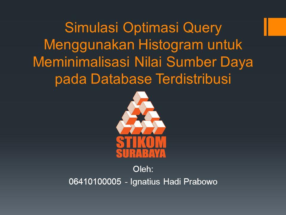 Oleh: 06410100005 - Ignatius Hadi Prabowo