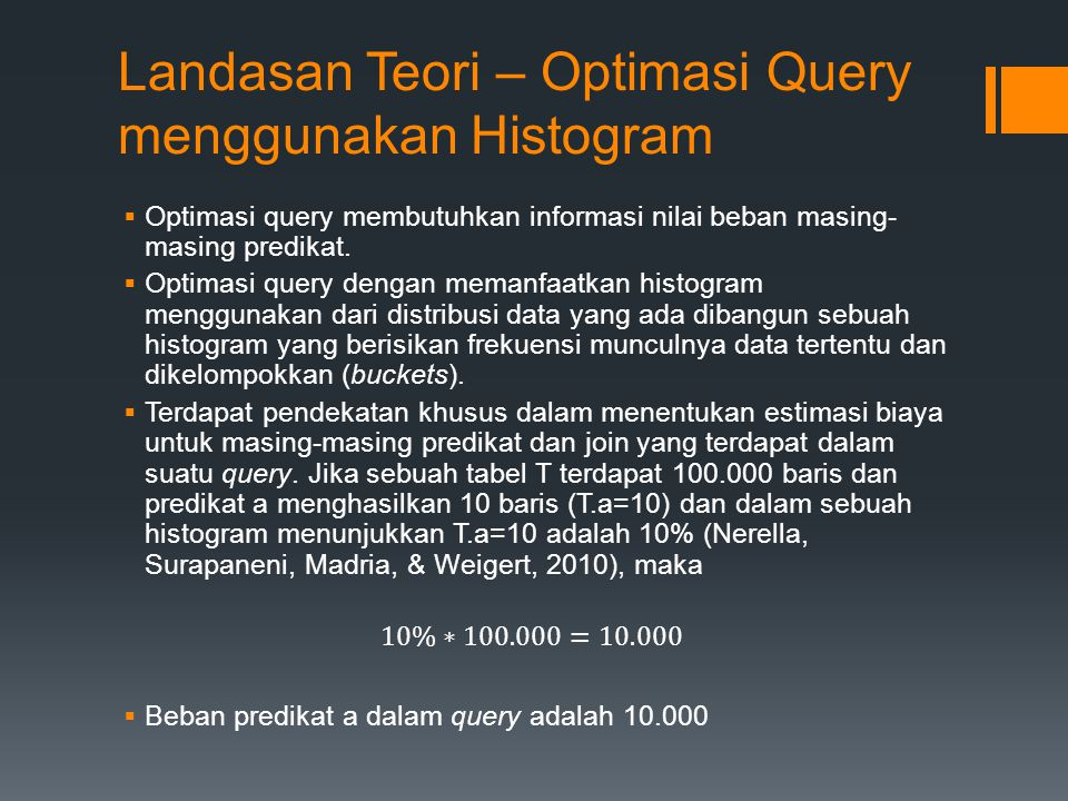 Landasan Teori – Optimasi Query menggunakan Histogram