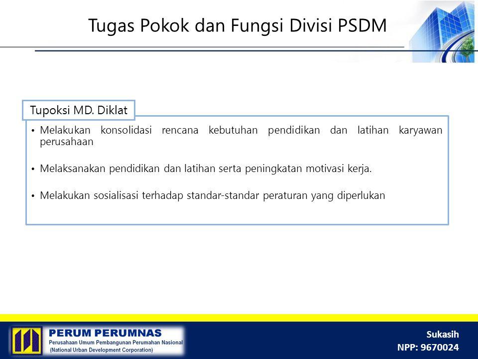 Tugas Pokok dan Fungsi Divisi PSDM