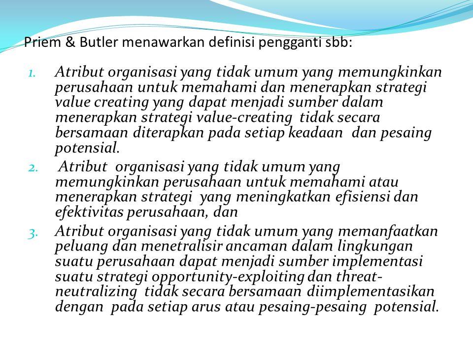 Priem & Butler menawarkan definisi pengganti sbb: