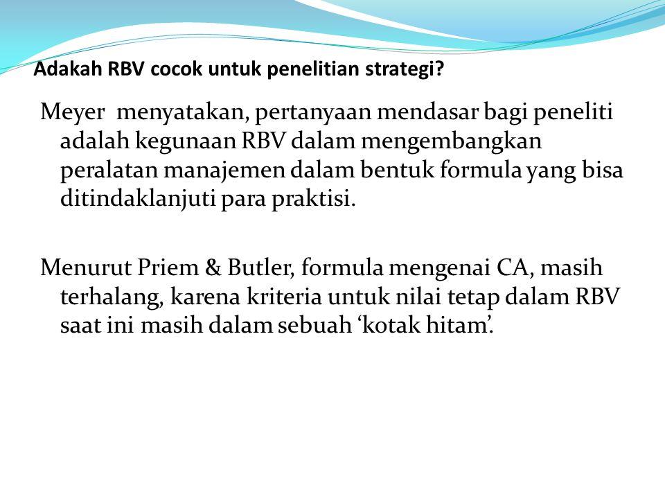 Adakah RBV cocok untuk penelitian strategi