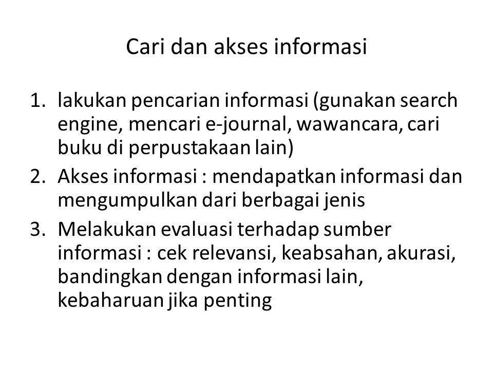 Cari dan akses informasi