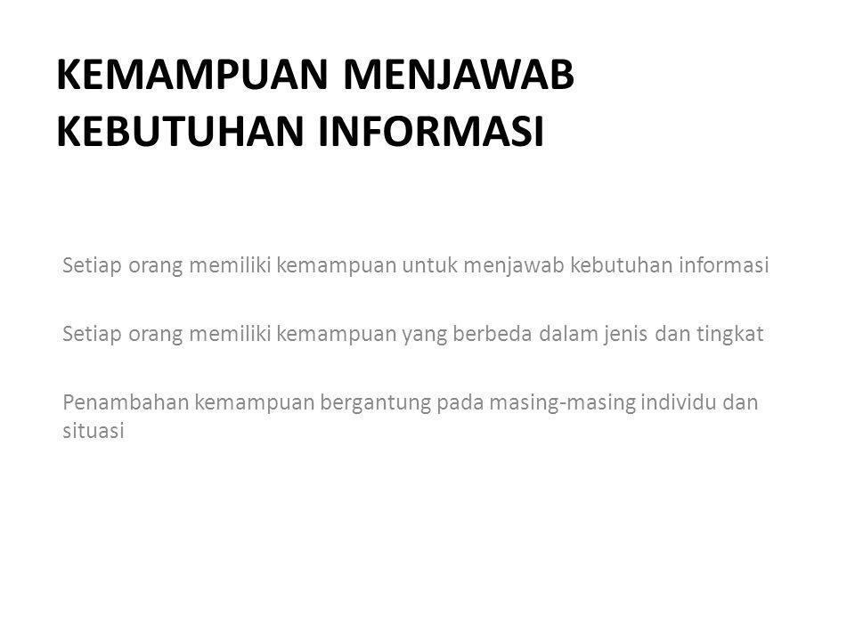 Kemampuan menjawab kebutuhan informasi
