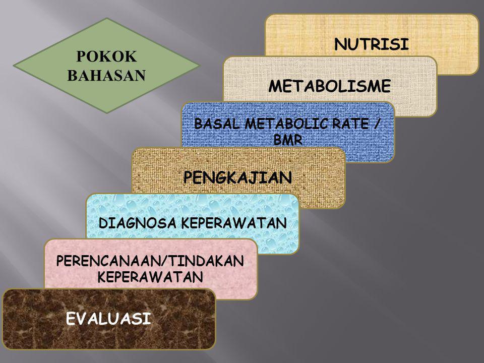 BASAL METABOLIC RATE / BMR PERENCANAAN/TINDAKAN KEPERAWATAN