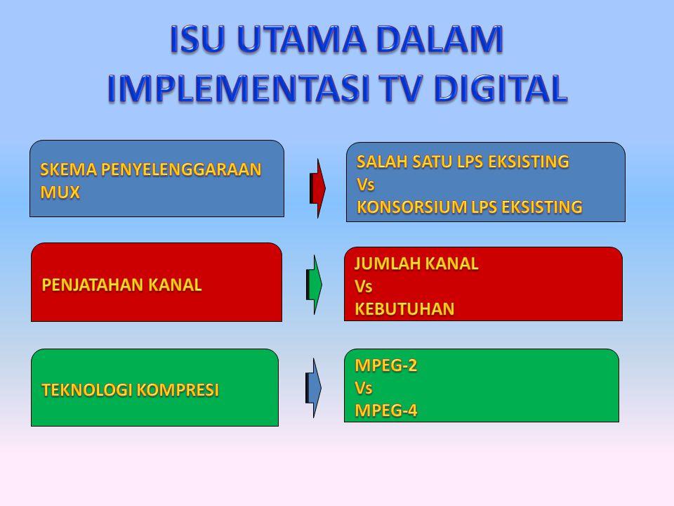 ISU UTAMA DALAM IMPLEMENTASI TV DIGITAL