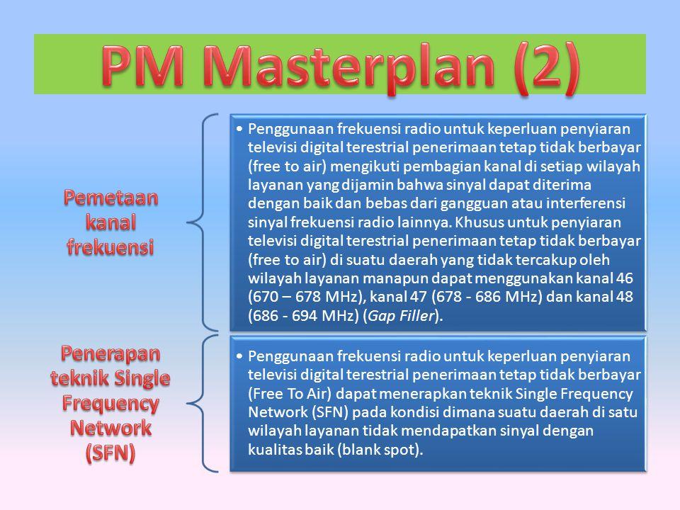 PM Masterplan (2) Pemetaan kanal frekuensi