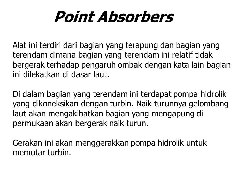 Point Absorbers