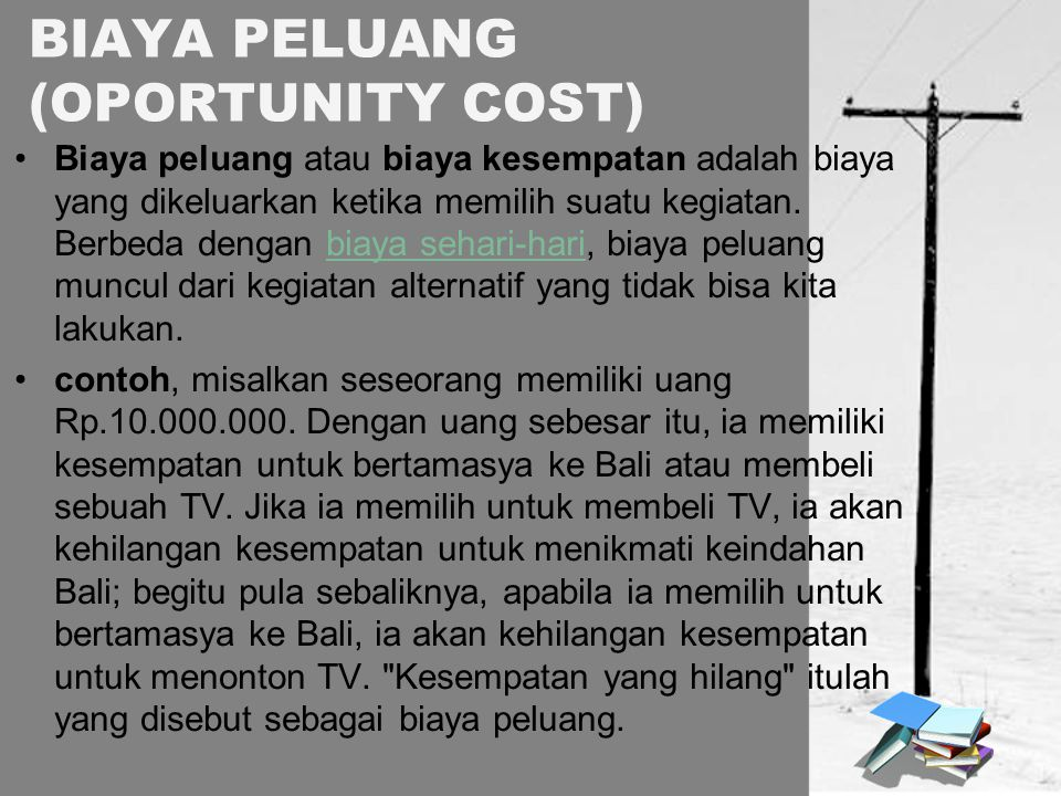 BIAYA PELUANG (OPORTUNITY COST)