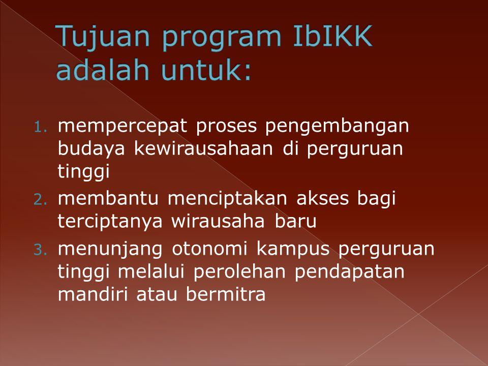 Tujuan program IbIKK adalah untuk:
