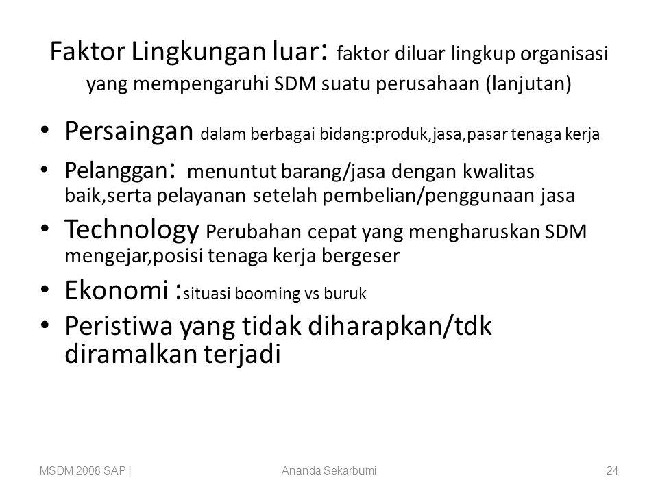 Persaingan dalam berbagai bidang:produk,jasa,pasar tenaga kerja