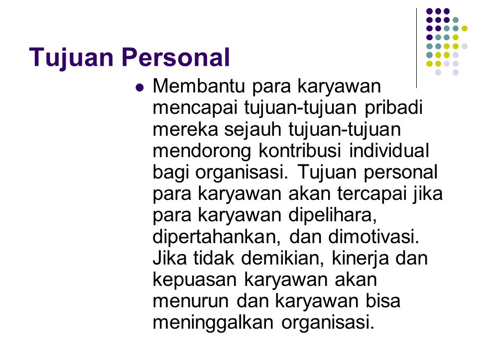 Tujuan Personal