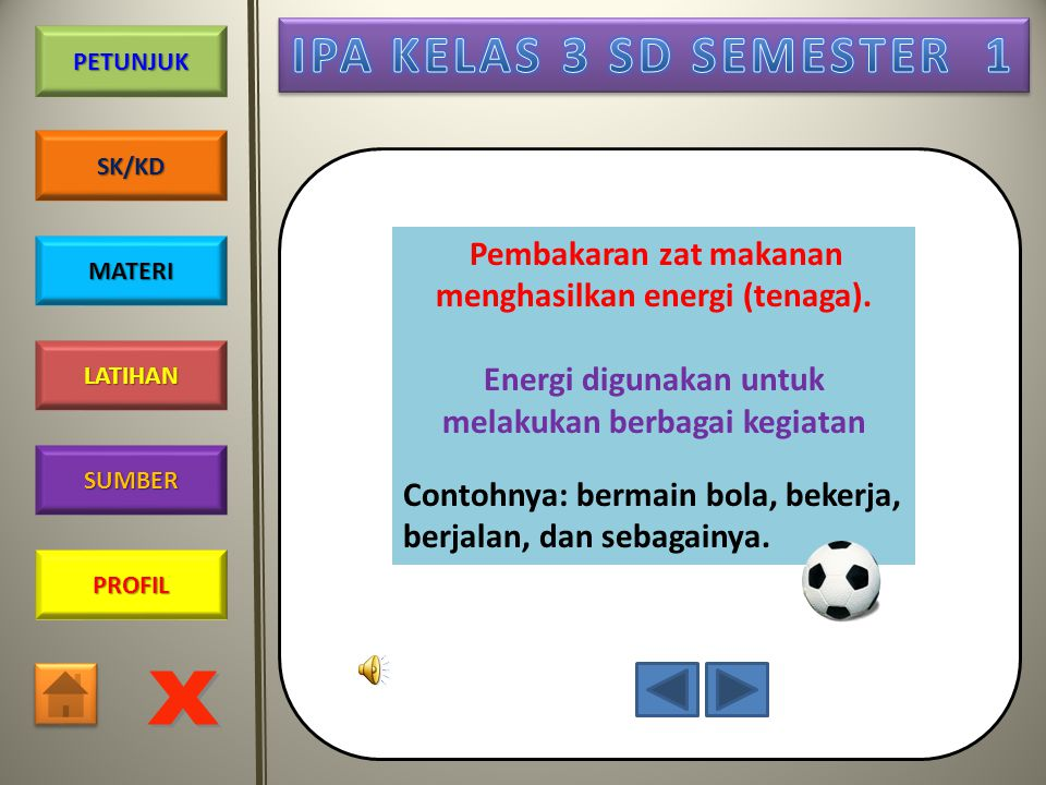 Energi digunakan untuk melakukan berbagai kegiatan