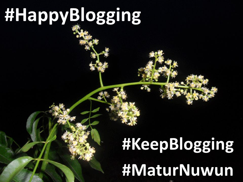 #HappyBlogging #KeepBlogging #MaturNuwun