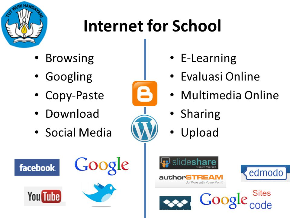 Internet for School Browsing Googling Copy-Paste Download Social Media