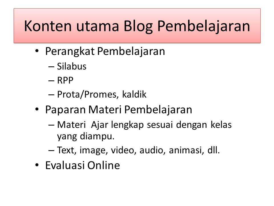 Konten utama Blog Pembelajaran