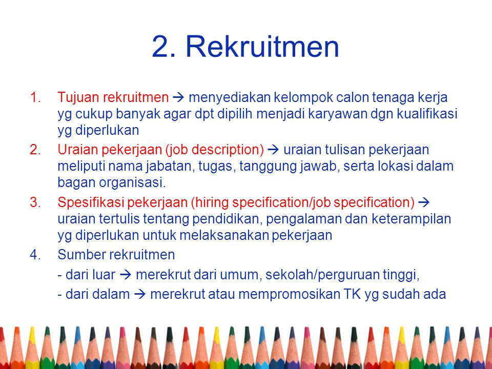 2. Rekruitmen