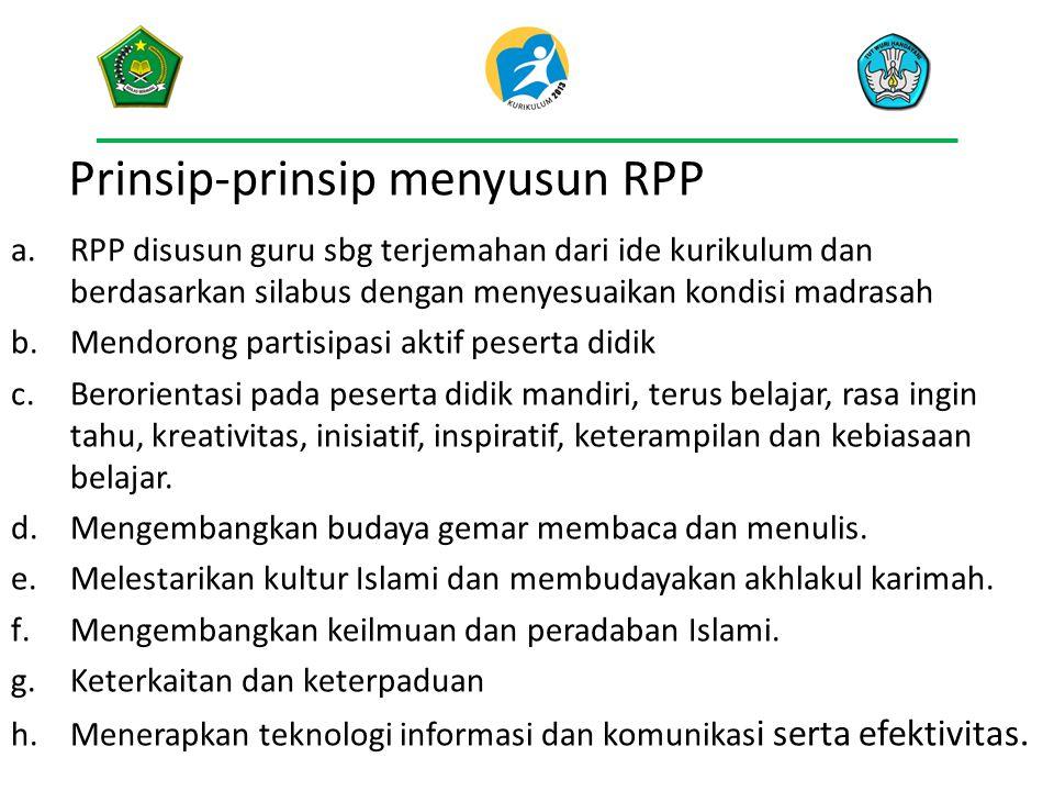 Prinsip-prinsip menyusun RPP