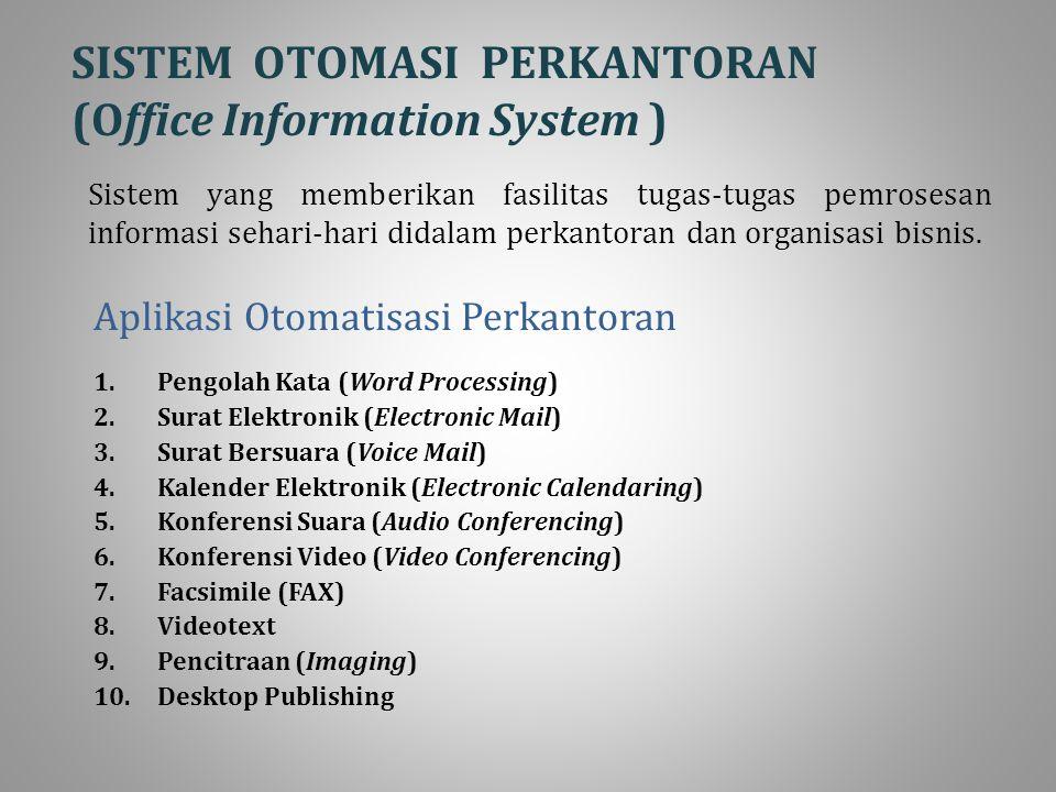 SISTEM OTOMASI PERKANTORAN (Office Information System )