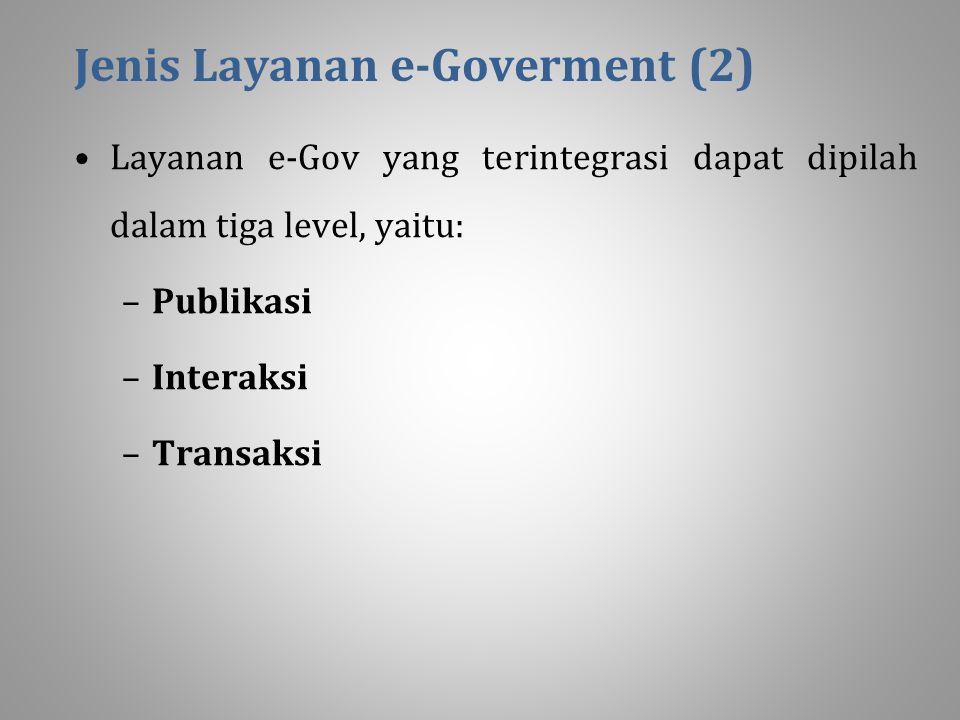Jenis Layanan e-Goverment (2)