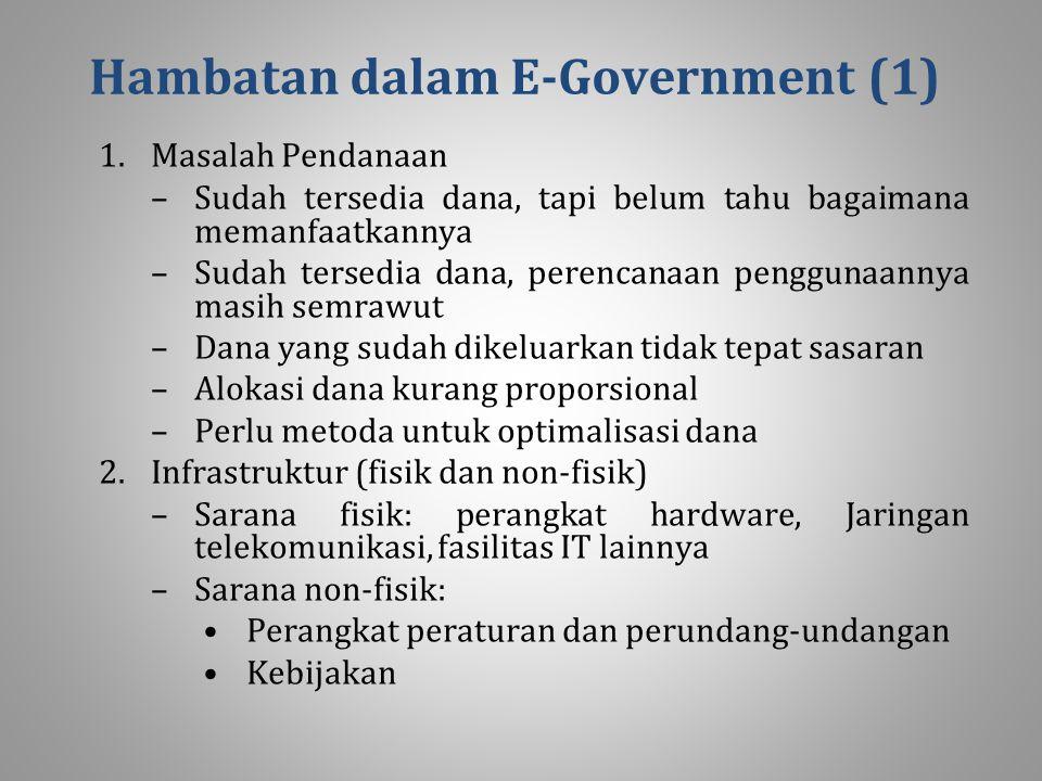Hambatan dalam E‑Government (1)