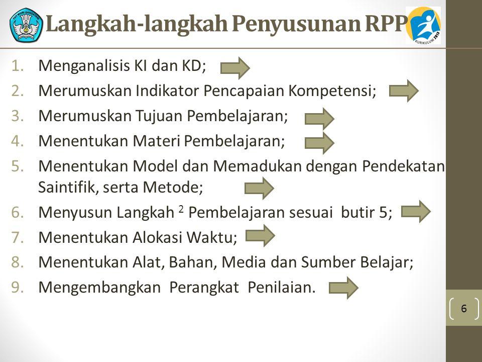 Langkah-langkah Penyusunan RPP