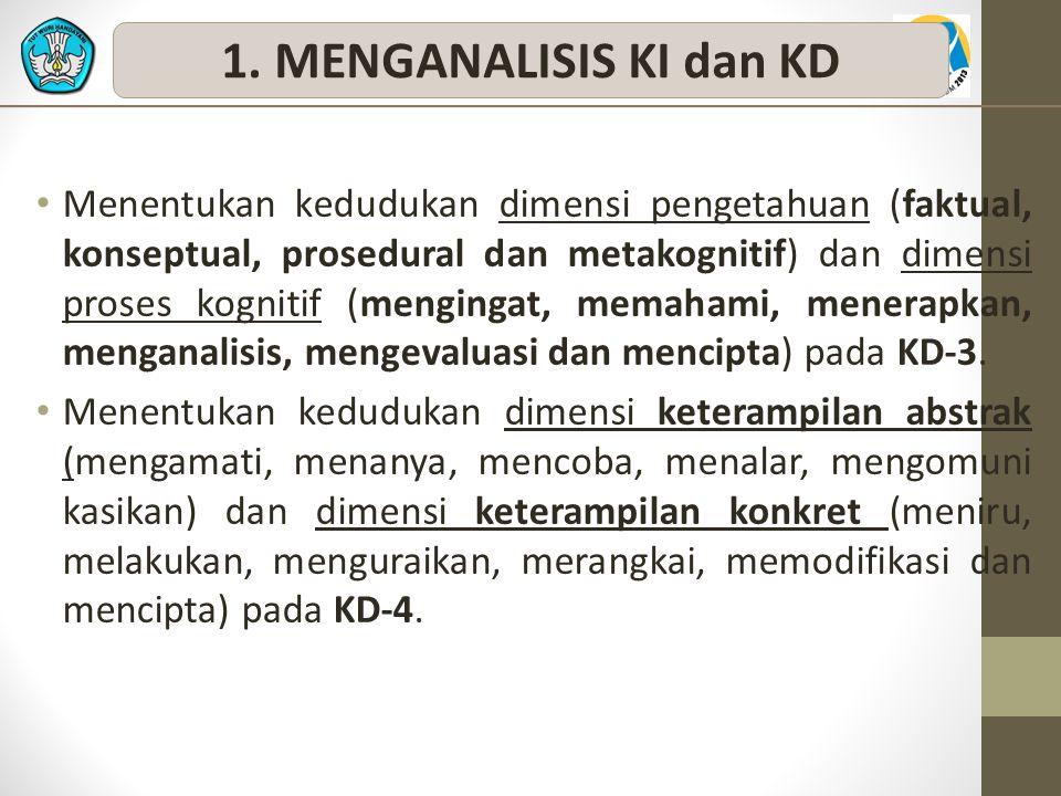 1. MENGANALISIS KI dan KD