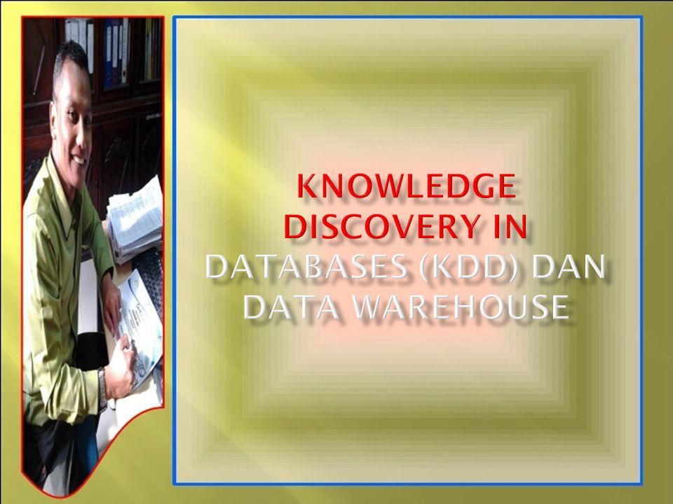 KNOWLEDGE DISCOVERY IN DATABASES (kdd) DAN Data Warehouse