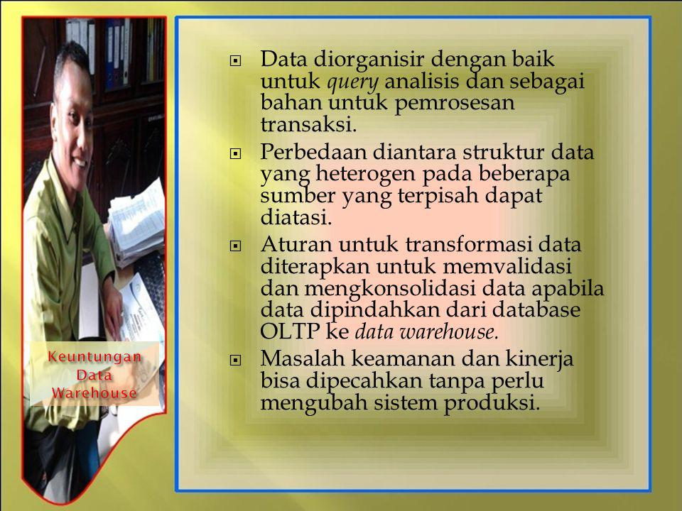 Keuntungan Data Warehouse