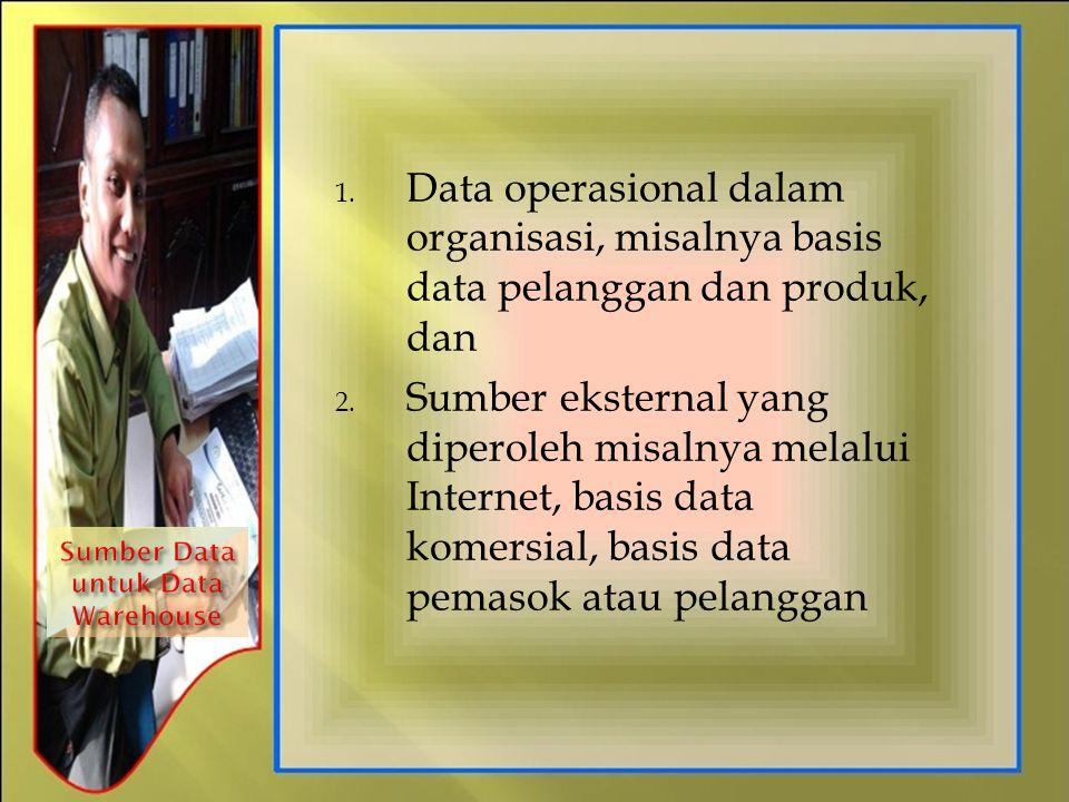 Sumber Data untuk Data Warehouse