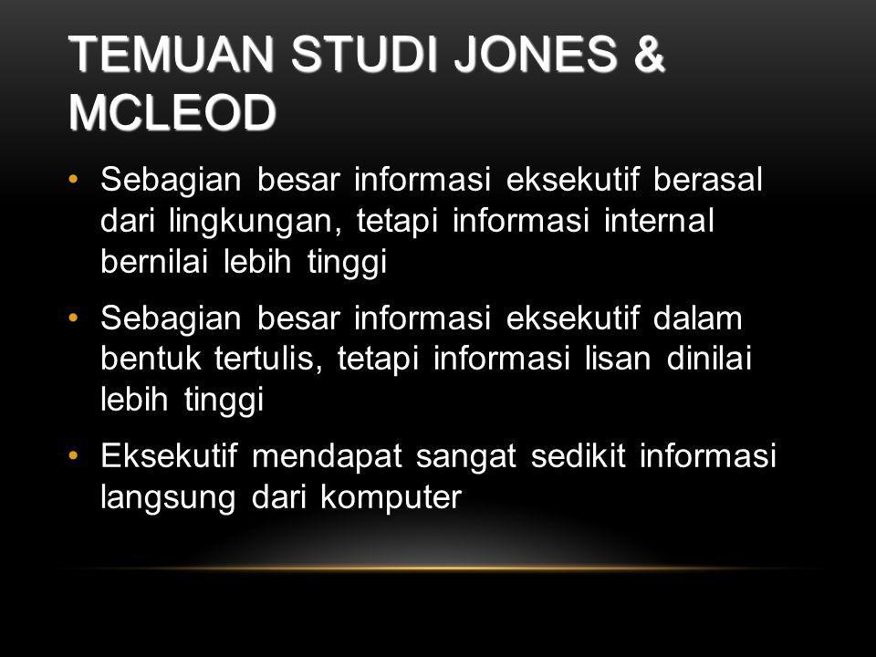 Temuan Studi Jones & McLeod