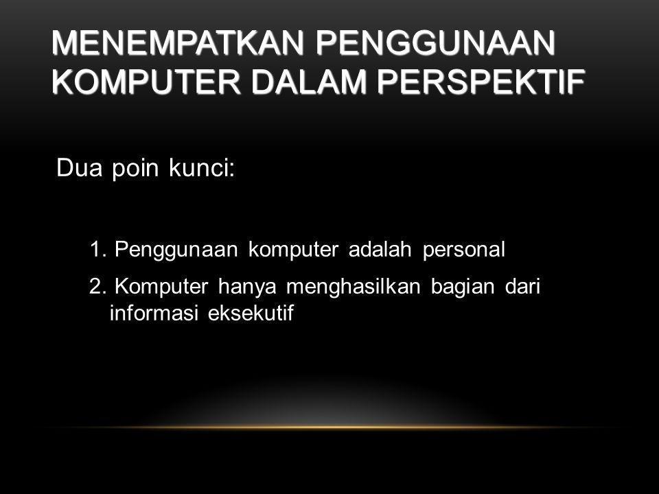 Menempatkan Penggunaan Komputer Dalam Perspektif