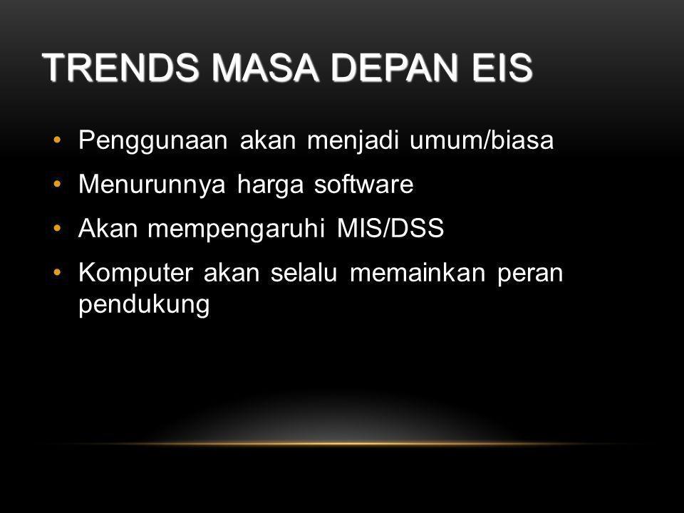 Trends Masa Depan EIS Penggunaan akan menjadi umum/biasa