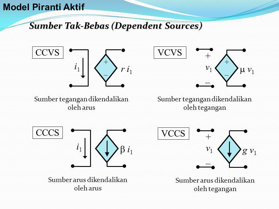 Sumber Tak-Bebas (Dependent Sources)