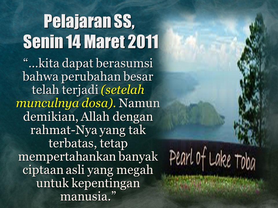 Pelajaran SS, Senin 14 Maret 2011