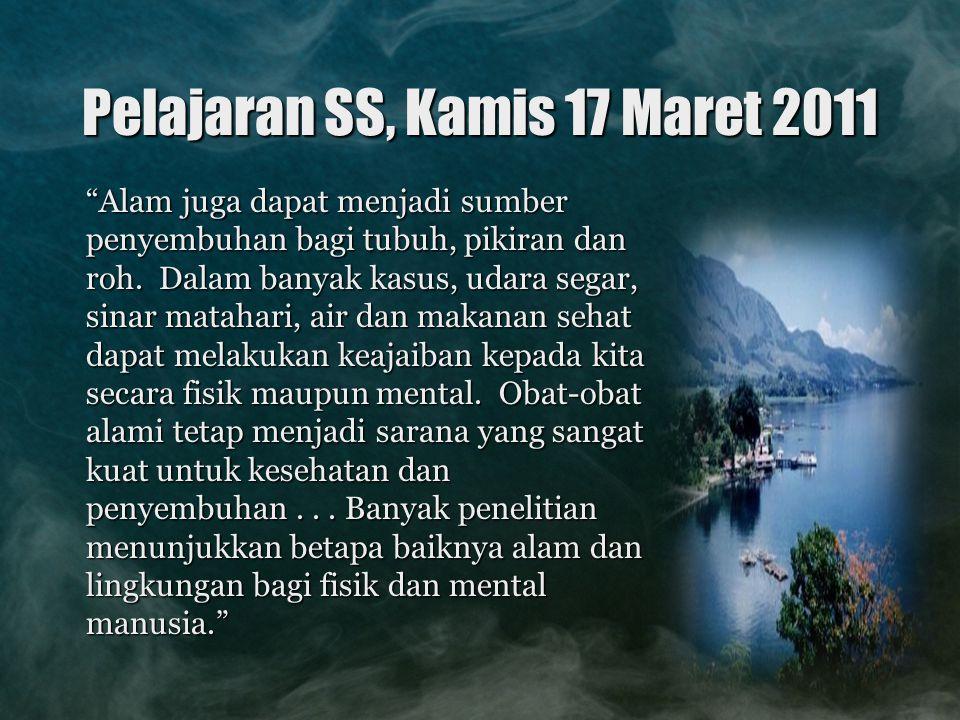 Pelajaran SS, Kamis 17 Maret 2011