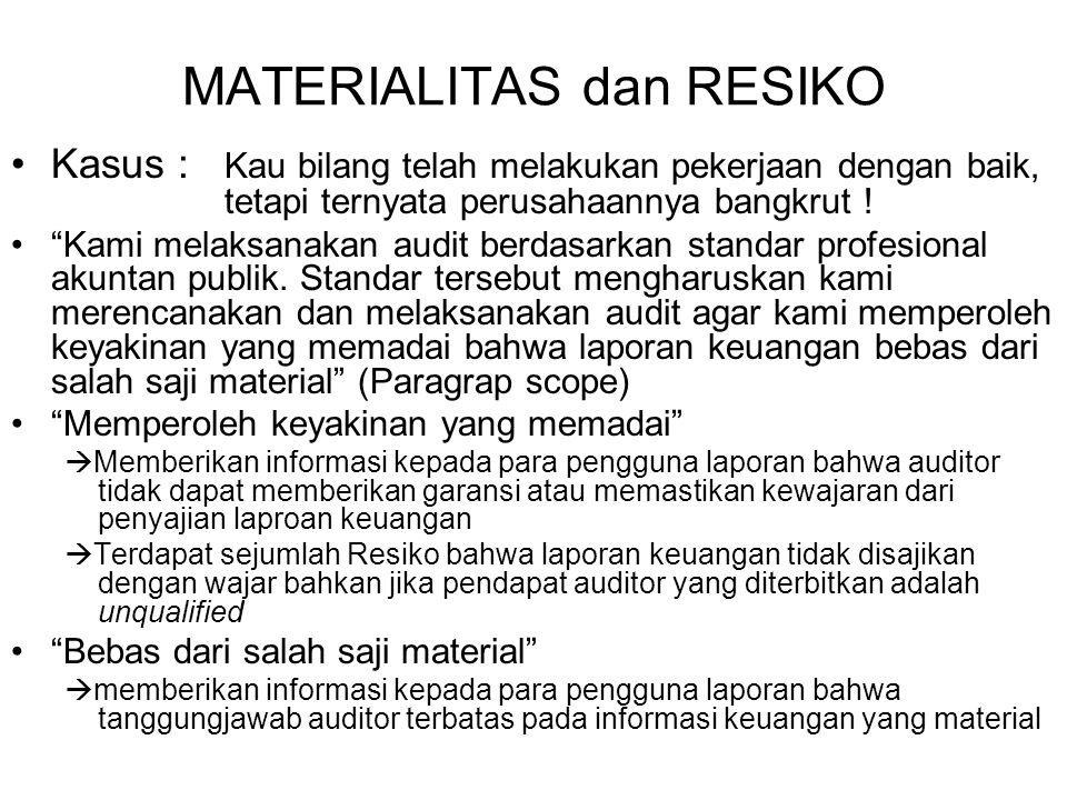 MATERIALITAS dan RESIKO