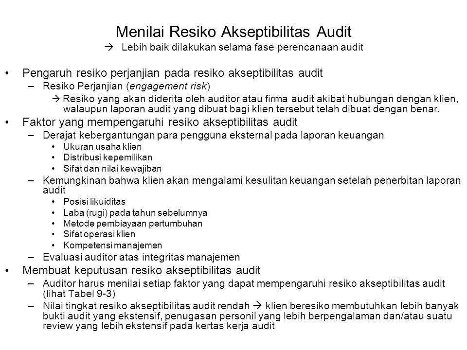 Menilai Resiko Akseptibilitas Audit