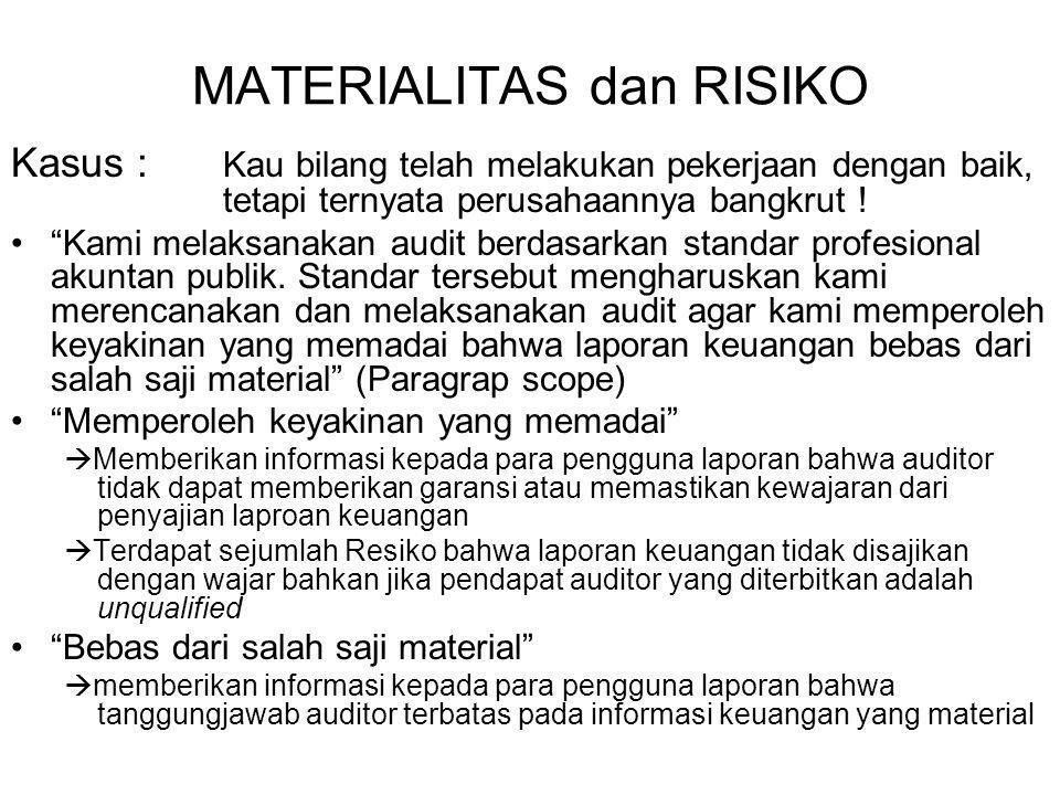MATERIALITAS dan RISIKO