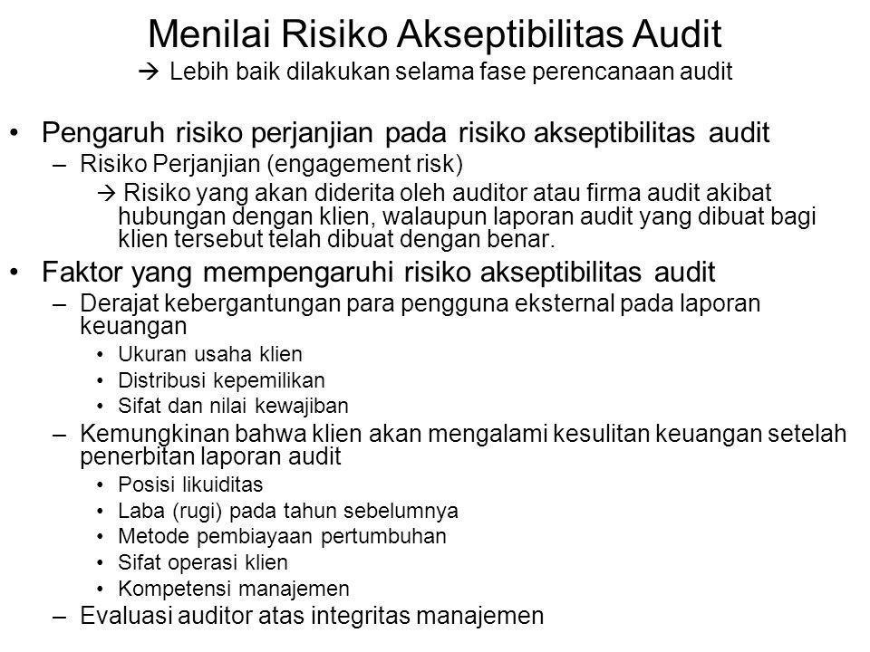 Menilai Risiko Akseptibilitas Audit
